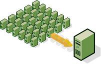 A virtuális szerver (VPS) szolgáltatás feleslegessé teszi a nagy számú szervert.